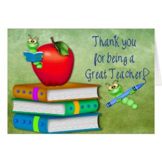 Thank You Teacher -  School Items Card