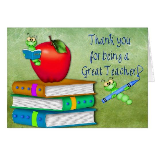 Thank You Teacher - School Items Card   Zazzle.com.au