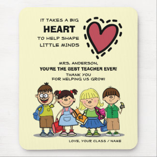 Thank You, Teacher. School Kids Gift Mousepads