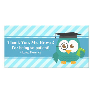 Thank You Teacher, Teacher Owl, Patience Card