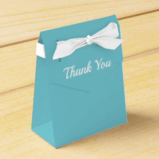 Thank You Teal and White Favour Box