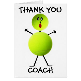 Thank You Tennis Coach Greeting Card