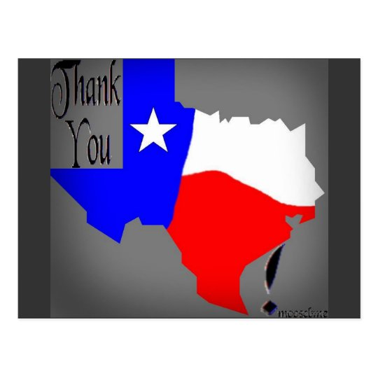 Thank You Texas! Postcard
