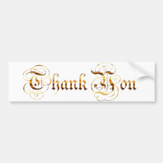 Thank you.text. bumper sticker