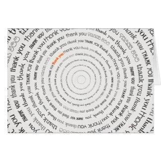 Thank You Text Circles Card