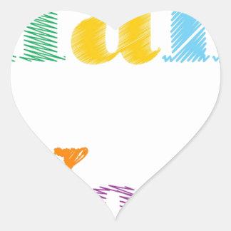 Thank You Text Heart Sticker