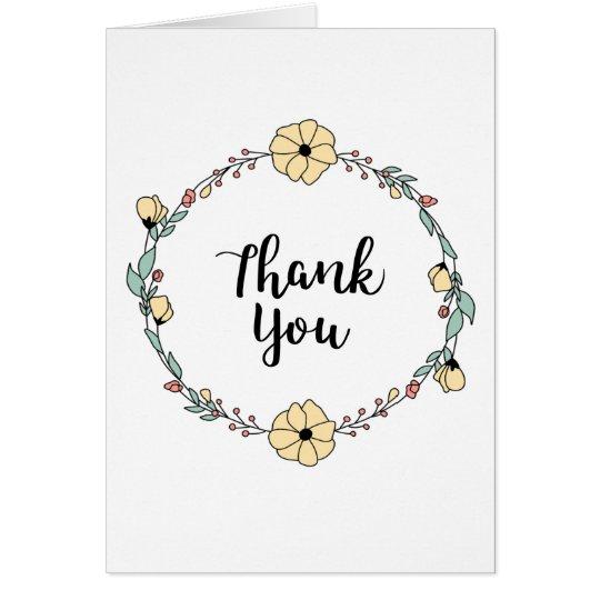 THANK YOU! Thank you card