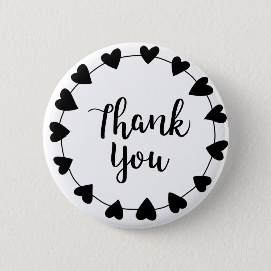 THANK YOU, Thank you card 6 Cm Round Badge