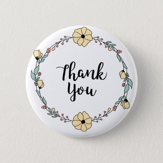 THANK YOU! Thank you card 6 Cm Round Badge