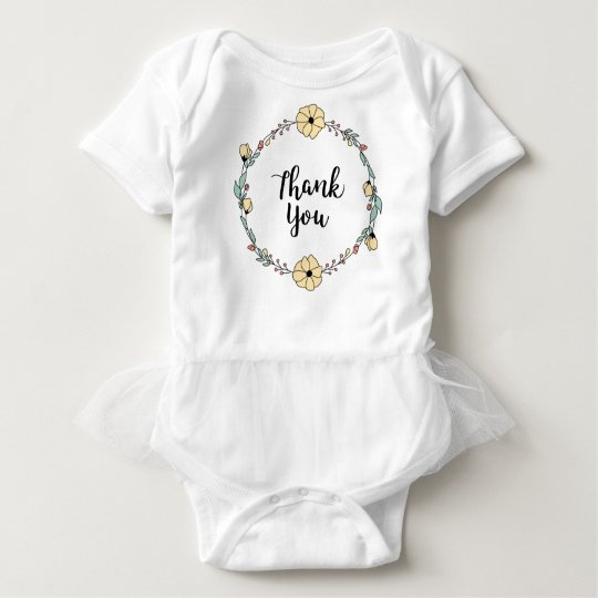 THANK YOU! Thank you card Baby Bodysuit