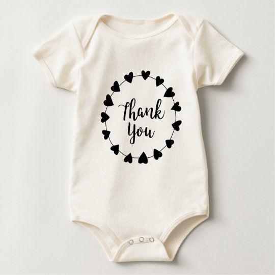 THANK YOU, Thank you card Baby Bodysuit