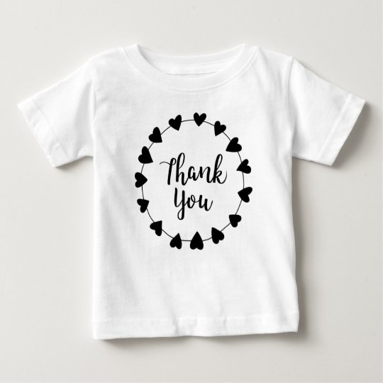 THANK YOU, Thank you card Baby T-Shirt