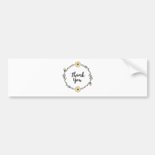THANK YOU! Thank you card Bumper Sticker