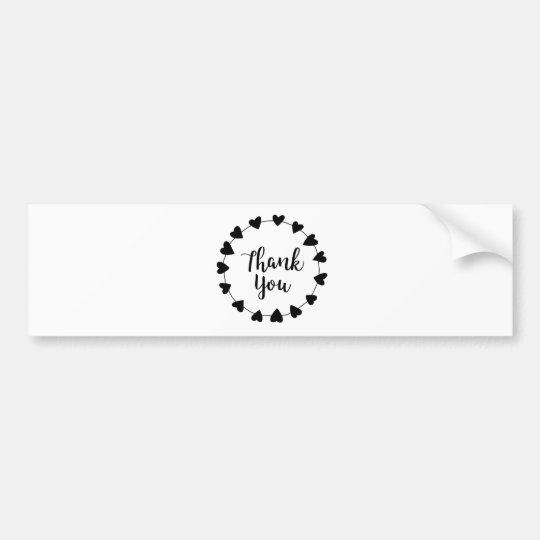 THANK YOU, Thank you card Bumper Sticker