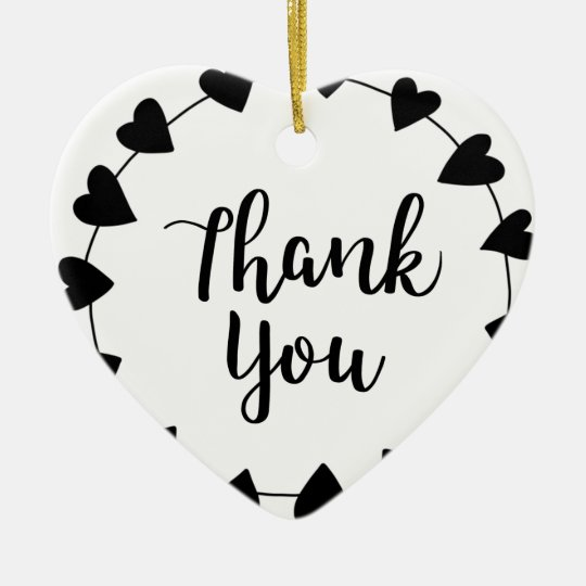 THANK YOU, Thank you card Ceramic Ornament