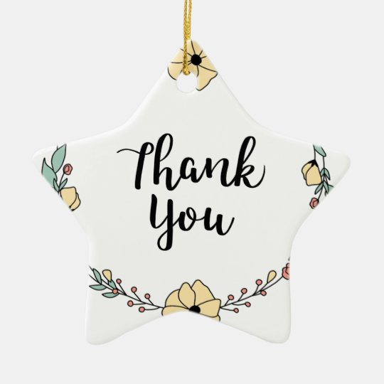 THANK YOU! Thank you card Ceramic Ornament