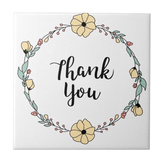 THANK YOU! Thank you card Ceramic Tile