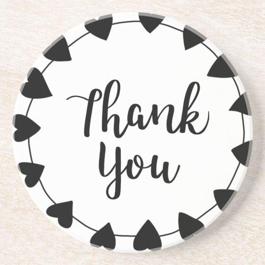 THANK YOU, Thank you card Coaster