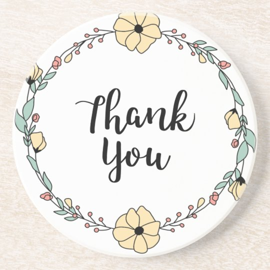 THANK YOU! Thank you card Coaster