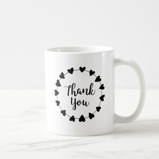 THANK YOU, Thank you card Coffee Mug