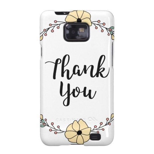 THANK YOU! Thank you card Galaxy S2 Case