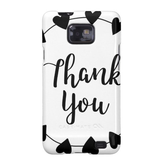 THANK YOU, Thank you card Galaxy S2 Cover