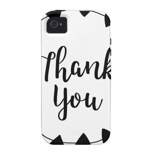 THANK YOU, Thank you card iPhone 4/4S Covers