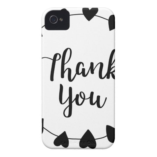 THANK YOU, Thank you card iPhone 4 Case-Mate Case