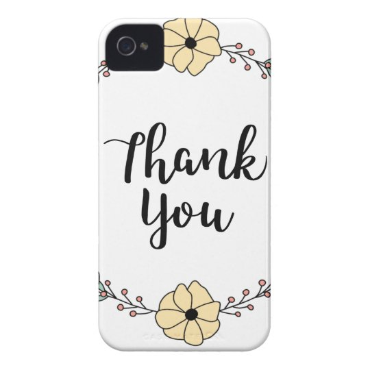 THANK YOU! Thank you card iPhone 4 Cover