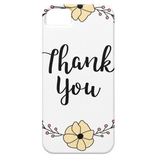 THANK YOU! Thank you card iPhone 5 Cover