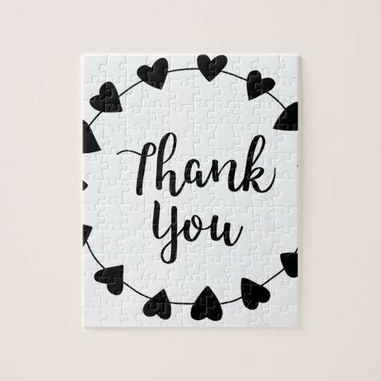THANK YOU, Thank you card Jigsaw Puzzle