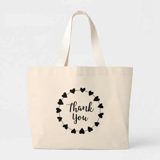 THANK YOU, Thank you card Large Tote Bag