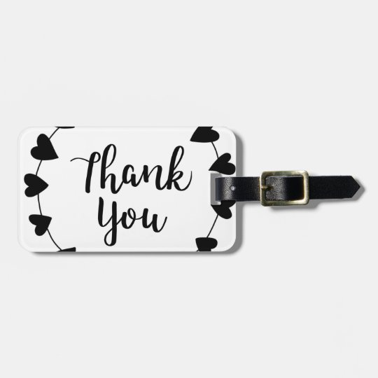 THANK YOU, Thank you card Luggage Tag