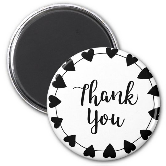 THANK YOU, Thank you card Magnet