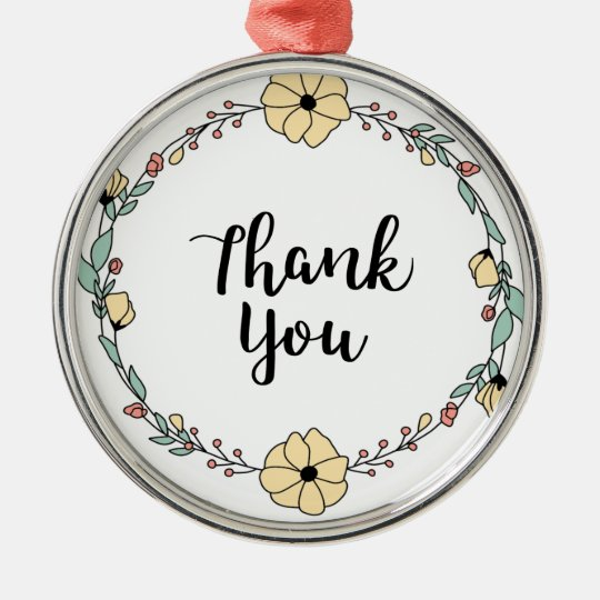 THANK YOU! Thank you card Metal Ornament