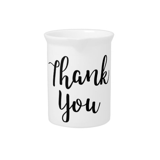 THANK YOU! Thank you card Pitcher