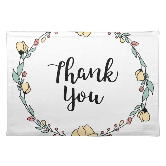 THANK YOU! Thank you card Placemat