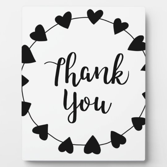 THANK YOU, Thank you card Plaque