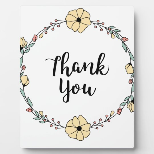 THANK YOU! Thank you card Plaque