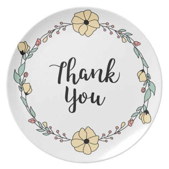 THANK YOU! Thank you card Plate