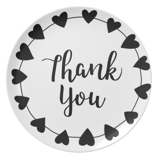 THANK YOU, Thank you card Plate
