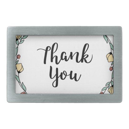 THANK YOU! Thank you card Rectangular Belt Buckle