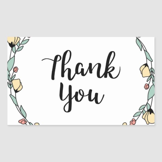 THANK YOU! Thank you card Rectangular Sticker