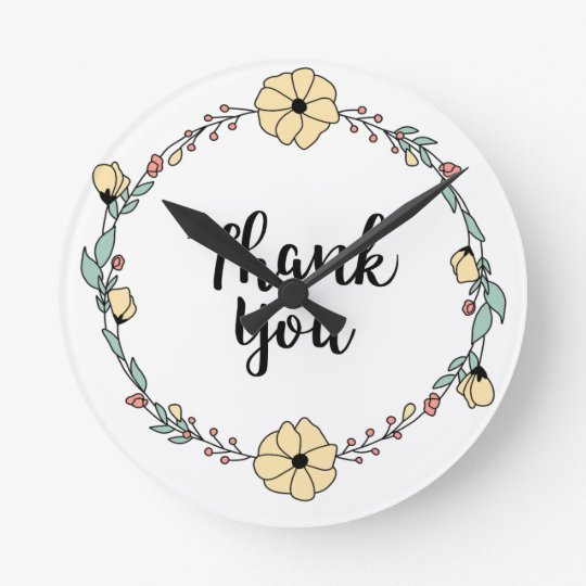 THANK YOU! Thank you card Round Clock