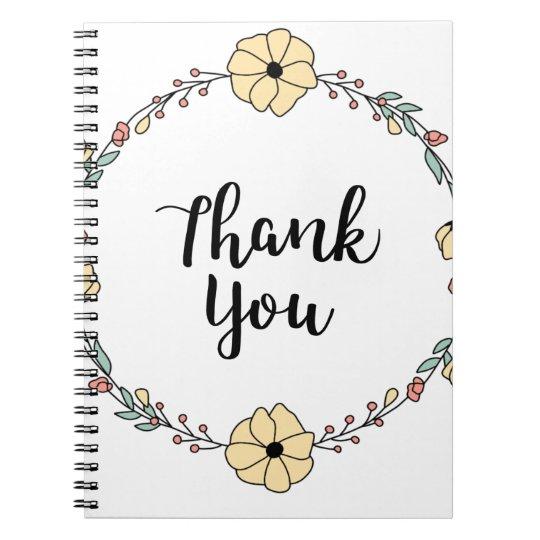 THANK YOU! Thank you card Spiral Notebook