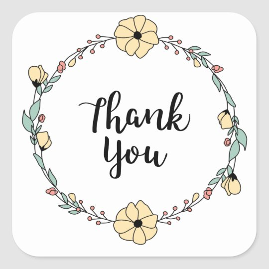 THANK YOU! Thank you card Square Sticker