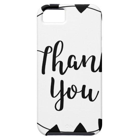 THANK YOU, Thank you card Tough iPhone 5 Case