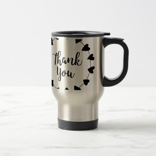 THANK YOU, Thank you card Travel Mug