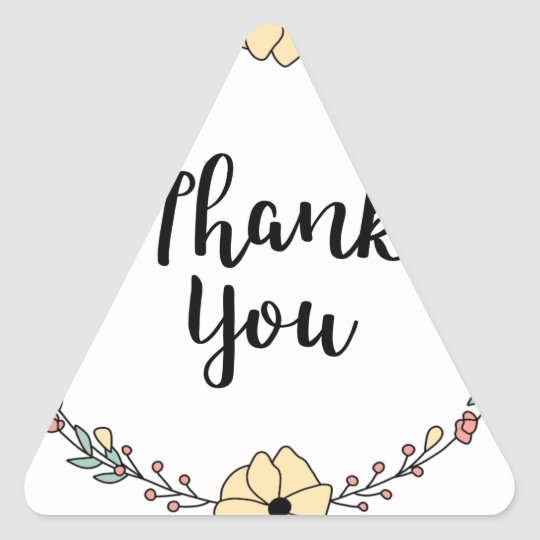 THANK YOU! Thank you card Triangle Sticker