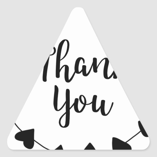 THANK YOU, Thank you card Triangle Sticker